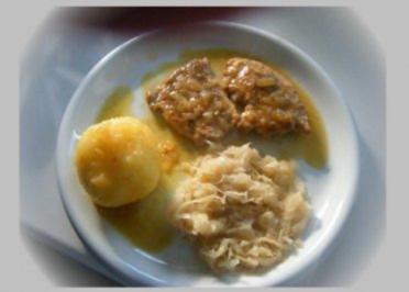 Schmorschnitzel in Weißwein - Rezept