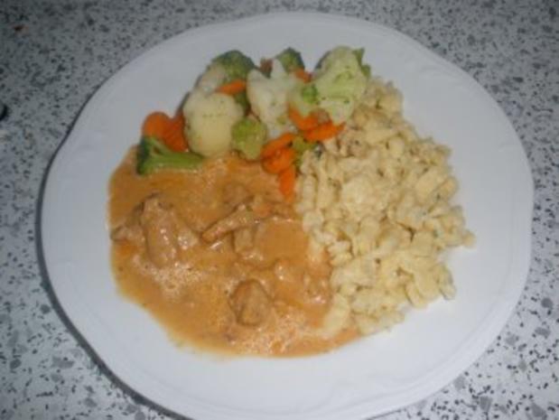 Fleischgerichte - Paprikageschnetzeltes - Rezept - Bild Nr. 3