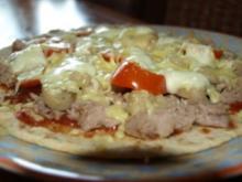 Tortilla Pizza Tonno-Funghi - Rezept
