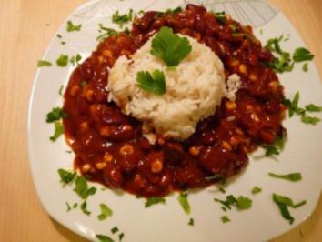 BBQ Fleischtopf mit Reis - Rezept