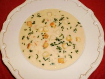 Sahnige Weißweinsuppe - Rezept