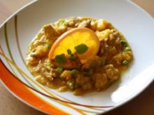 Puten - Geschnetzeltes in Curry-Orangensoße - Rezept