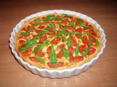 Quiche mit Ziegenkäse und Tomaten - Rezept