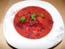 Rote Beete Suppe mit Kartoffeln - Rezept