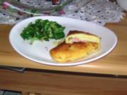 Kartoffel- Cordon- Bleu mit lauwarmen Feldsalat - Rezept