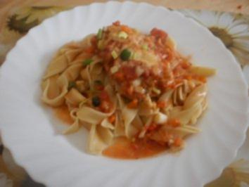 Mini-Schnitzel auf Bandnudeln - Rezept
