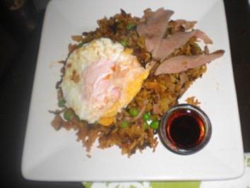 Gebackener Reis mit Ente - Rezept