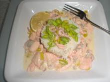 Fischragout in  Weißwein-Zitronensahne - Rezept