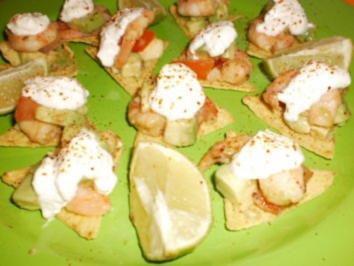 Rezept: Pikante Garnelen mit Avocado