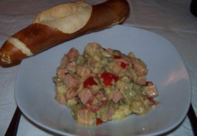Leberkäs-Salat - Rezept