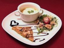 Karotten-Ingwer-Vollkorntoast mit Kürbissuppe (Nadine & Michelle) - Rezept