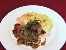 Rinderfilet im Speckmantel mit Gnocchi und sautierten Pilzen (Mati Gavriel) - Rezept