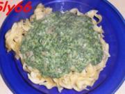 Soßen:Spinat-Soße mit viel Knobi - Rezept