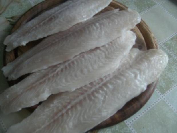 ( Fisch )  Fischpfanne mit einer Gemüse Sahne-Soße - Rezept - Bild Nr. 2