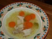 Hühnerbrühe vom glücklichen Huhn - Rezept