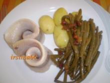 Matjes mit Prinzessbohnen und Butterkartoffeln - Rezept