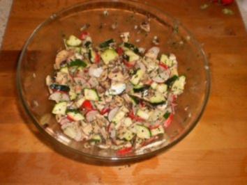 Rezept: Zucchinisalat mit Pilzen