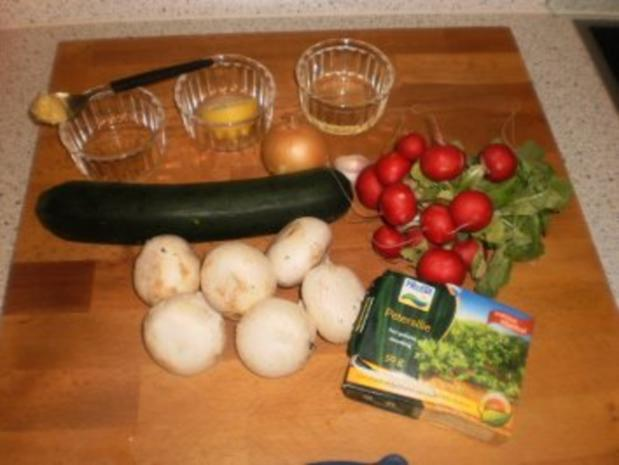 Zucchinisalat mit Pilzen - Rezept - Bild Nr. 2