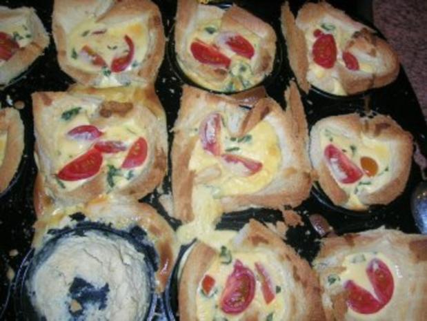 Toast muffins rezept