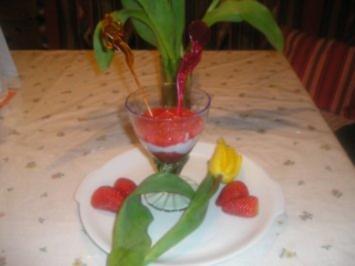 rot-weiß-roter Valentinsgruß - Rezept