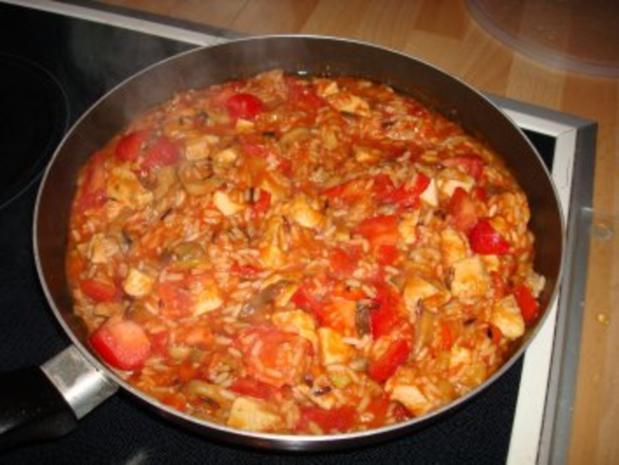 Puten-Gemüse-Pfanne mit Reis - Rezept