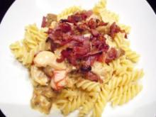 Pasta: Fusilli mit Hähnchen-Pfifferling-Creme - Rezept