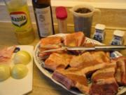 Fleisch: Rippchen geschmort  à la Renate,  mit Pilzen in Sherry-Soße - Rezept