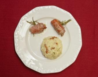 Schweinefilet im Prosciutto-Mantel und Pfifferling-Risotto (Chris Roberts) - Rezept