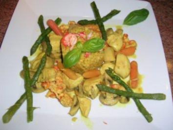 Hühnerragout mit Flusskrebsen in Proseccosauce und viel Gemüse, echt lecker - Rezept