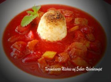 Milchreis-Dessert mit Erdbeer-Rabarber-Compot - Rezept