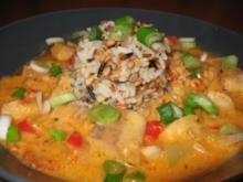 Fischgulasch mit 5-Korn-Reis - Rezept