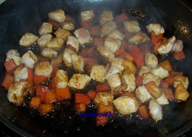Kochen: Schweinefleisch-Paprika-Pfanne - Rezept - Bild Nr. 2