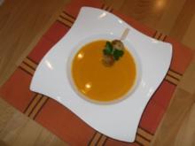 Kürbissuppe mit Fleischbällchen - Rezept