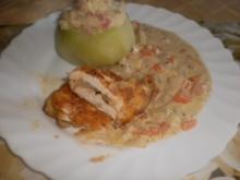 Putenschnitzel mit Reisfüllung ~ Schmor-Kohlrabi mit Schinken-Gemüse-Schnee - Rezept