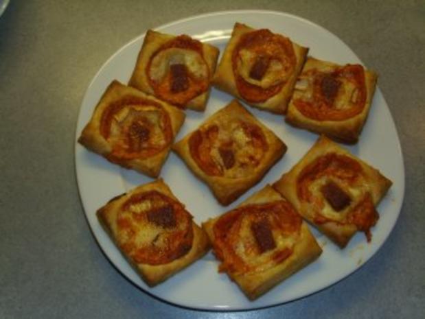 Pikante Kuchen: Herzhafte Blätterteig-Häppchen - Rezept