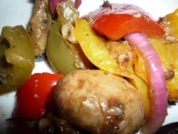 Vorspeise: gemischtes mariniertes Gemüse - Rezept