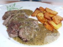 Fleisch: Rindfleisch (Suppenfleisch) an Minzsoße - Rezept