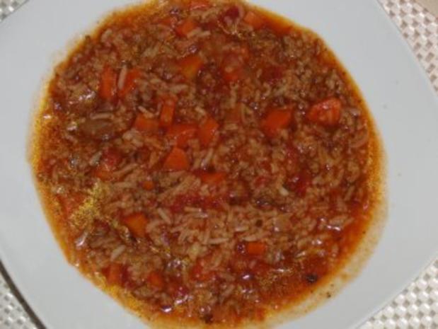 Suppe : Hackfleischeintopf, Gemüse, mit hauch arabisch und Schärfe für die Sinne - Rezept