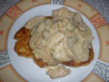 Kartoffelpfannkuchen mit Geschnetzeltem - Rezept