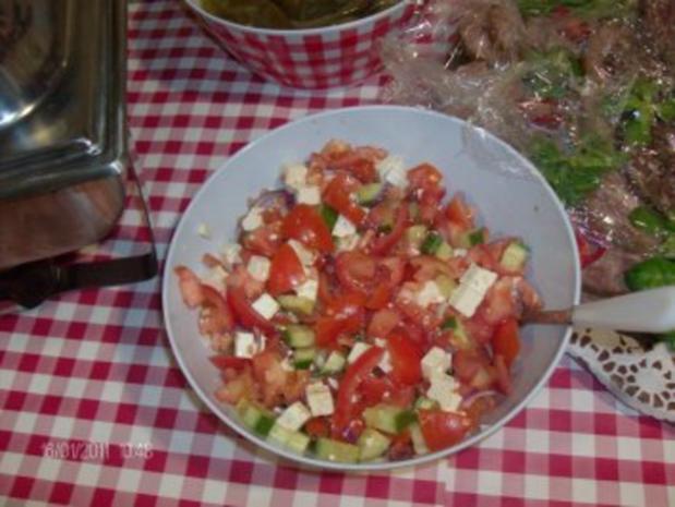Salat mit Schafskäse - Rezept