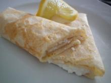 Pfannkuchen mit Hüttenkäse - Rezept