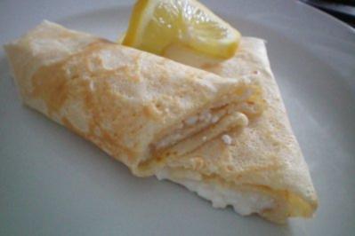 Rezept: Pfannkuchen mit Hüttenkäse