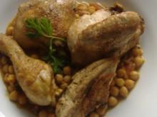 Kichererbsen mit Hähnchen und Tomaten - Rezept