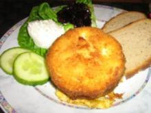 Champignon Camembert paniert und gebacken, - Rezept