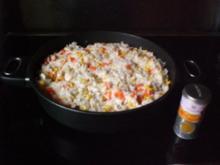 Familienreispfanne mit Huhn - Rezept