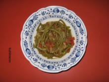 Grüne-Bohnen-Beilage (fast) mediterran - Rezept