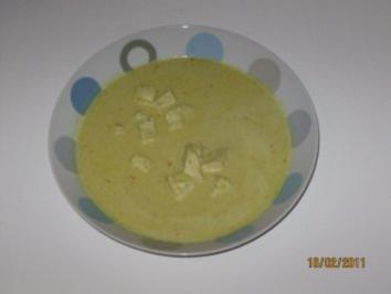 Ananas - Curry - Suppe mit Huhn, Zitronengras und Ingwer - Rezept