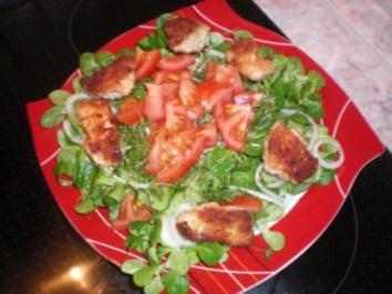 Feldsalat mit Chicken-Nuggets - Rezept