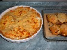 Blätterteig : Tarte mit Lachsfischstäbchen ,Feta und Tomaten - Rezept