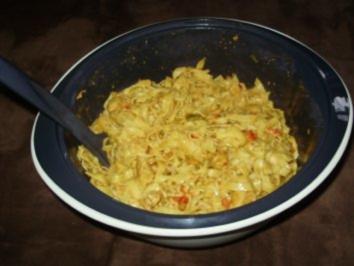 Linguine mit Puten - Currysoße - Rezept